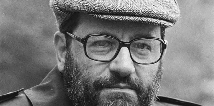1Italiaanse schrijver Umberto Eco kop