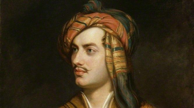 1Lord Byron in Albanian dress