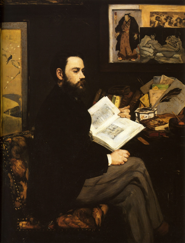 Émile Zola retratado por Manet (1868).