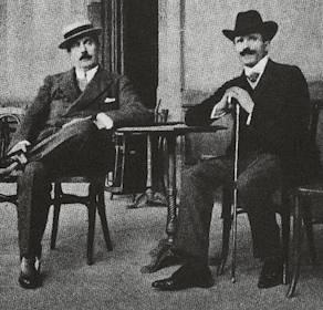 Français : Puccini et Toscanini vers 1900. (Photo credit: Wikipedia)
