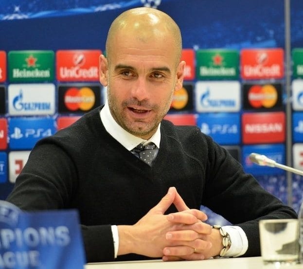 Pep Guardiola. Fuente: Wikipedia y Football.ua