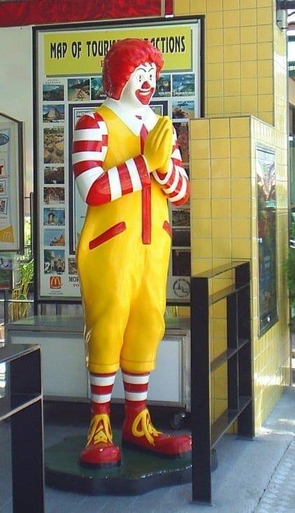Ronald McDonald. Fuente: Wikipedia