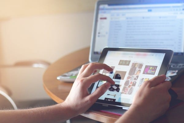 ipad tablet technology touch