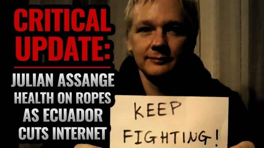 julian assange sin internet