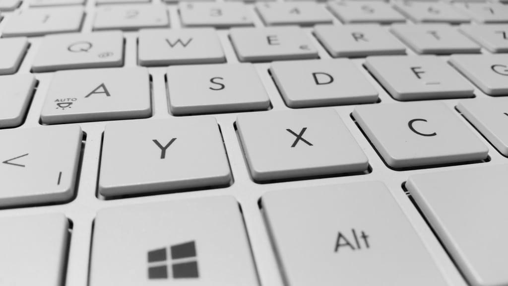 keyboard computer keys white