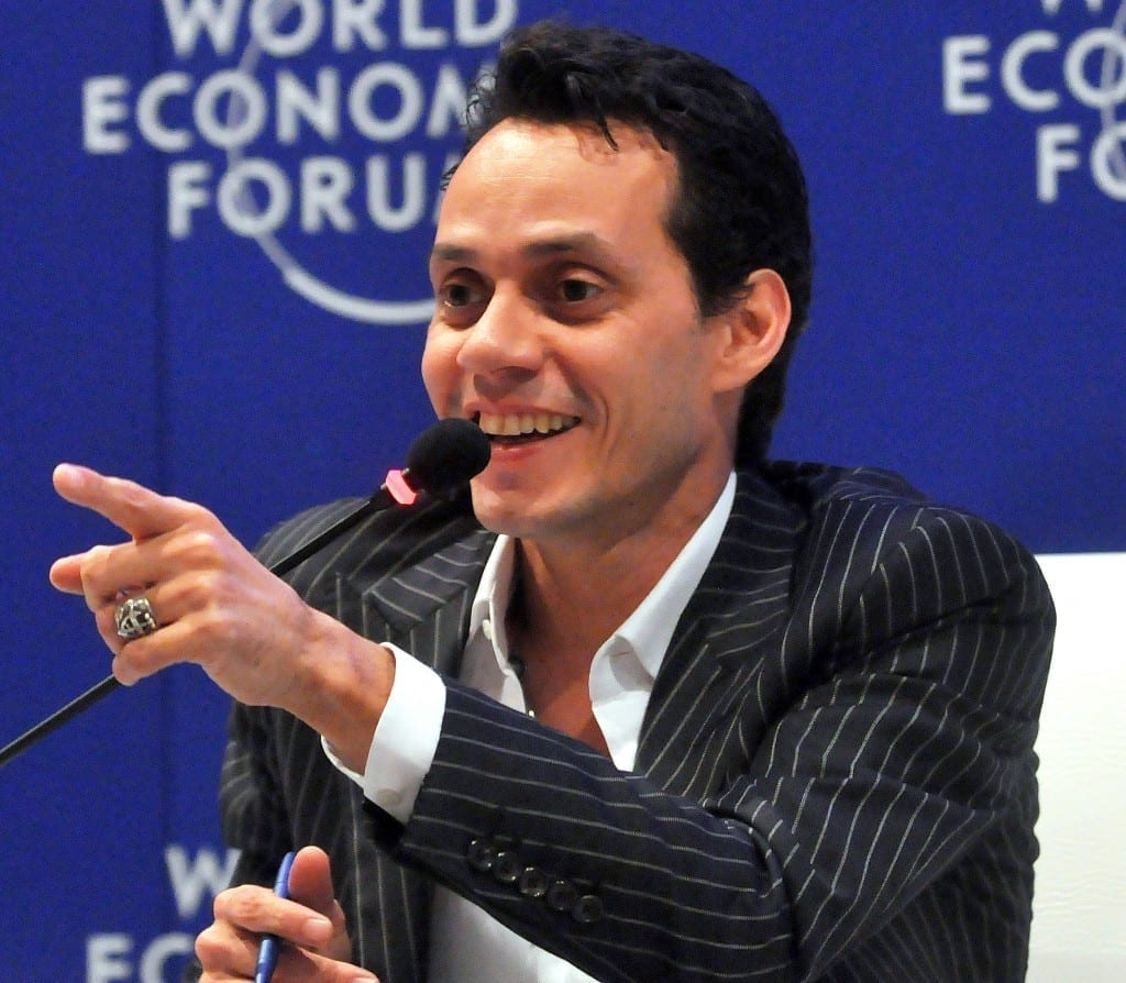 Marc Anthony en el 2010. Fuente: flcikr. Autor: World Economic Forum