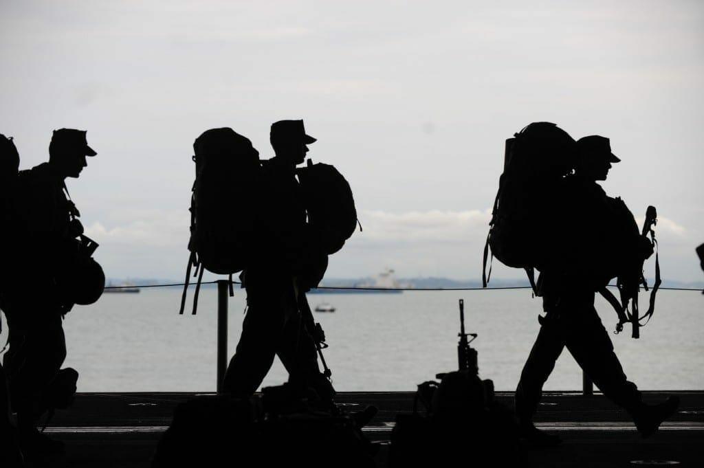 military men departing service uniform 40820