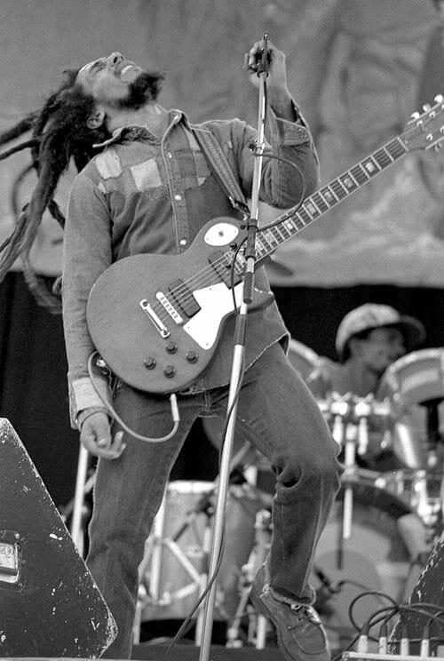 Bob Marley en concierto en 1980. Fuente: flickr. Autor: Eddie Mallin