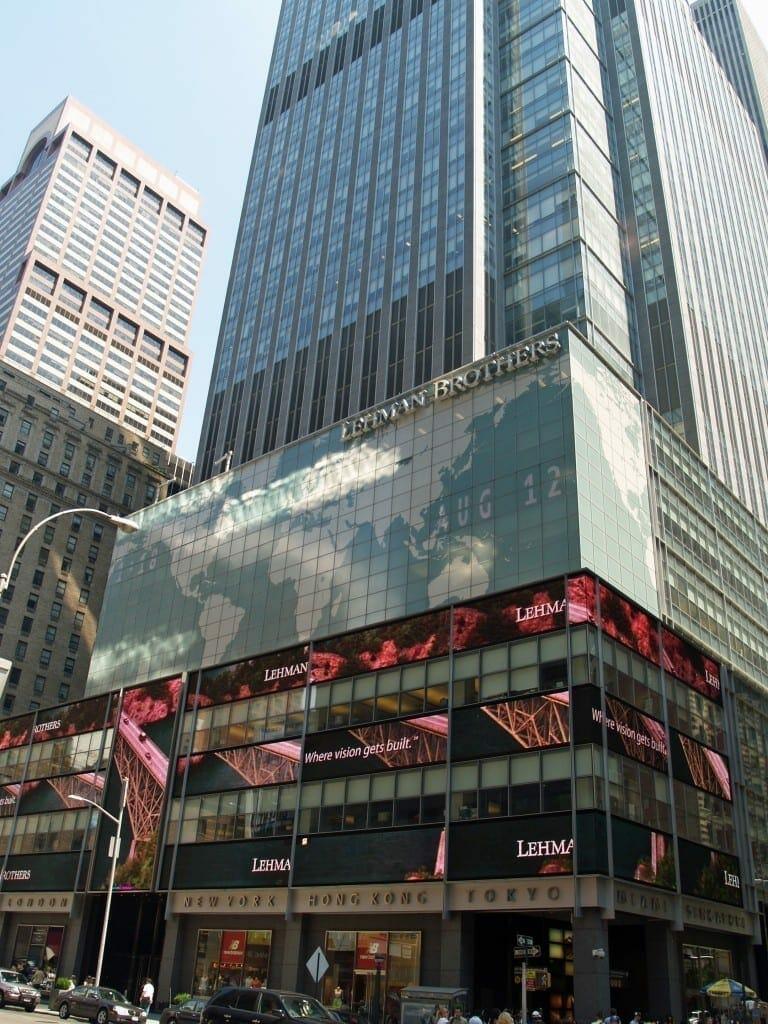Lehman Brothers Times Square. Foto de David Shankbone