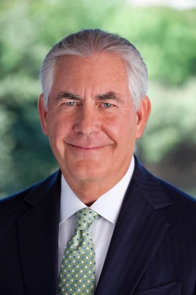 Rex Tillerson. Fuente: Casa Blanca