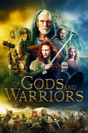 """Poster for the movie """"Of Gods and Warriors"""""""