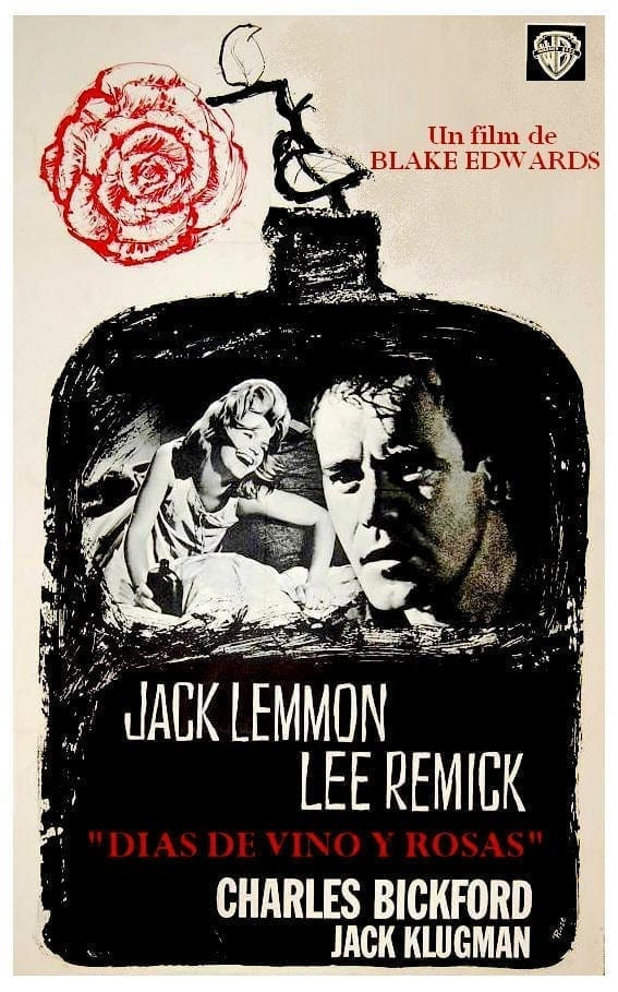 """Poster for the movie """"Días de vino y rosas"""""""