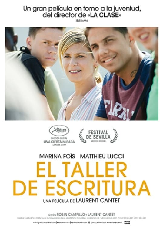 "Poster for the movie ""El taller de escritura"""