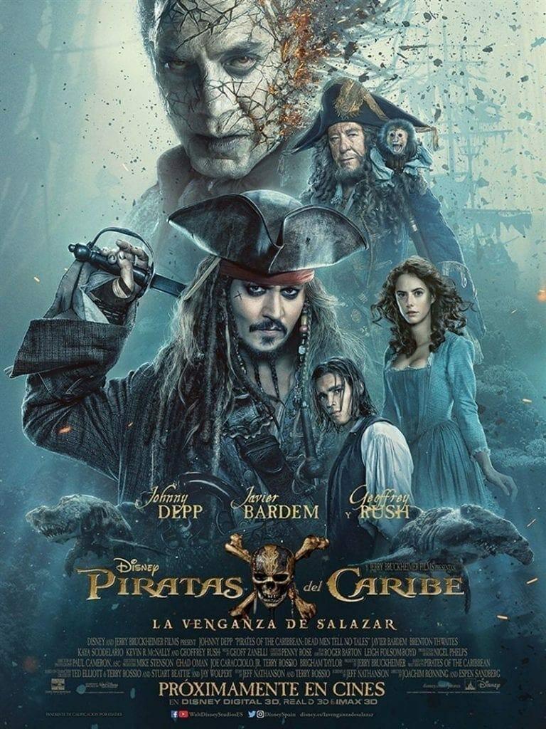 "Poster for the movie ""Piratas del Caribe: La venganza de Salazar"""
