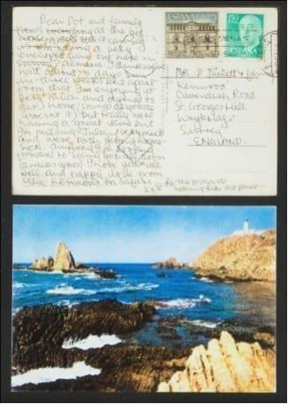 1538387643 Postal enviada por John Lennon desde Almeri a 1967 1968