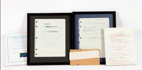 1538387743 Conjunto de dos letras ine ditas a mano originales