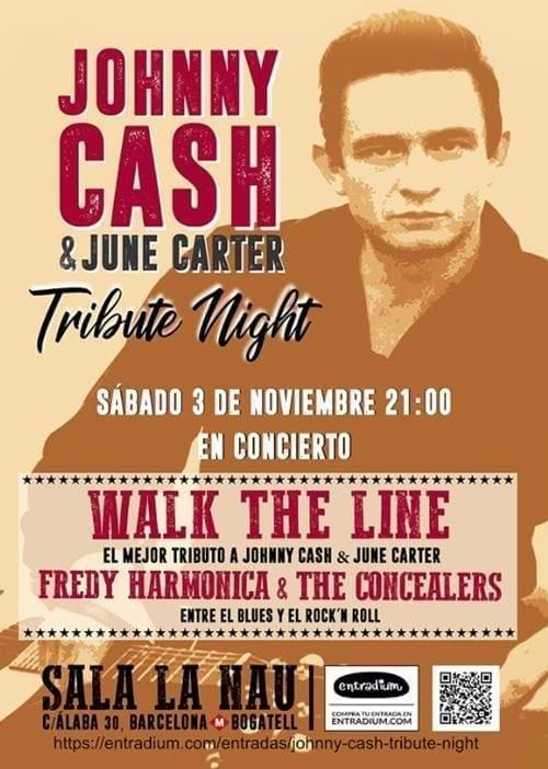 Tributo a Johnny Cash el 3 de noviembre en La Nau, Barcelona