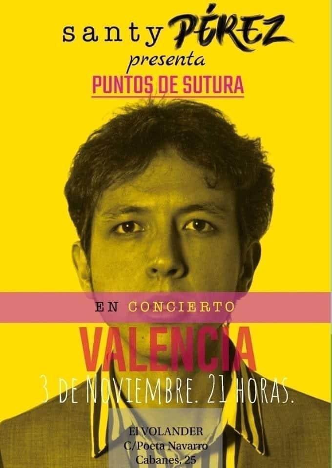 Santy Pérez presenta en Valencia su nuevo disco 'Puntos de Sutura'