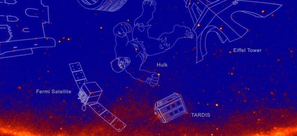 El Telescopio Fermi Anima el Cielo con Constelaciones en Rayos Gamma