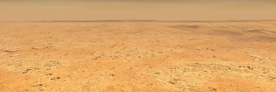 Concepto artístico de la representación del terreno liso y plano que domina la elipse de aterrizaje de InSight en la región de Elysium Planitia en Marte. Image Credit: NASA/JPL-Caltech