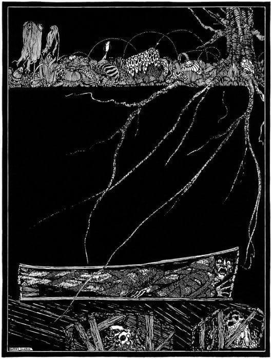 Ilustración Original de El Entierro Prematura, de E.A. Poe