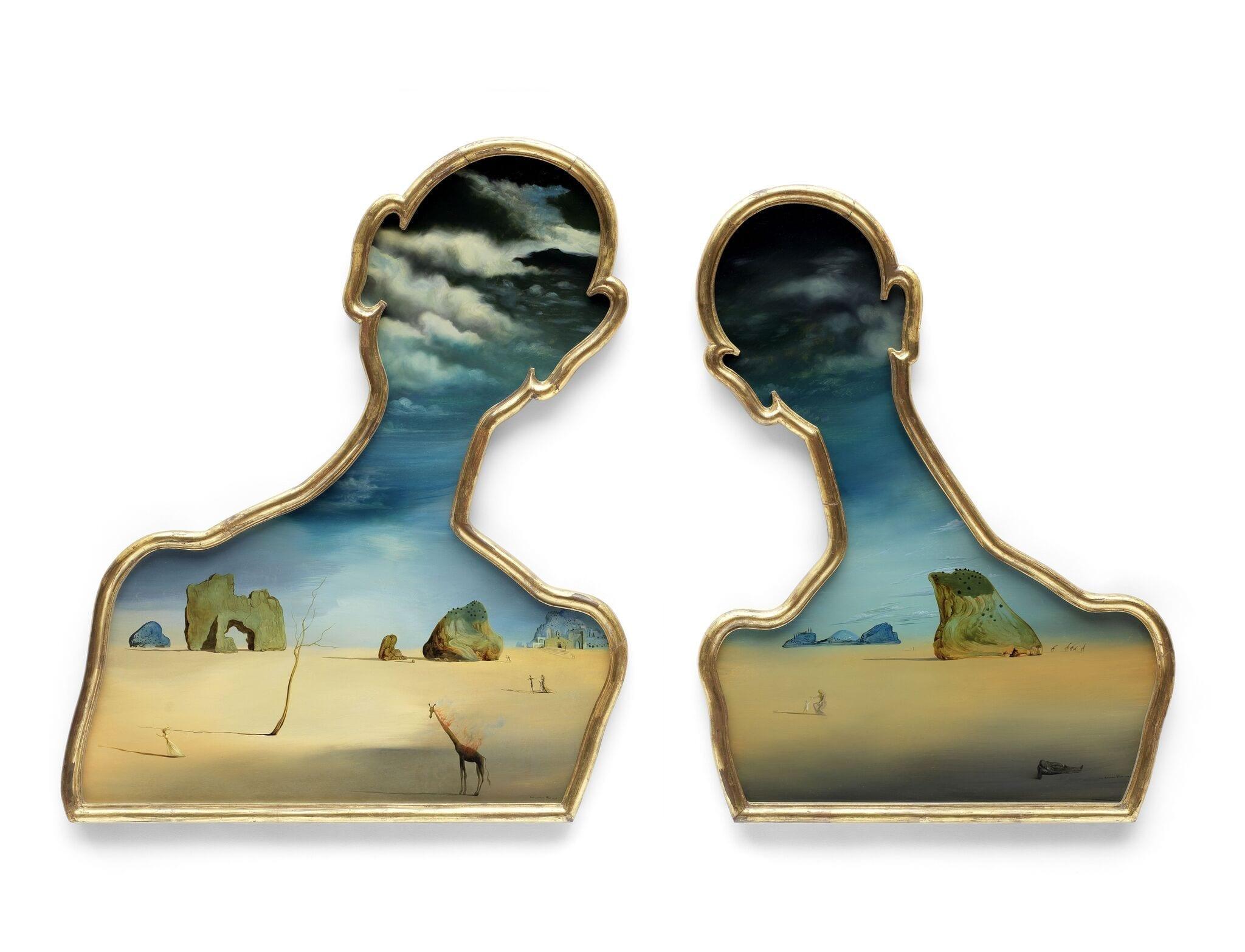 © Bonhams Salvador Dalí (1904-1989), Couple aux têtes pleines de nuages (1937) Estimación: £7,000,000 – 10,000,000. 92.5 x 72.5 cm (imagen a la izquierda) 90 x 70.5 cm (imagen a la derecha)