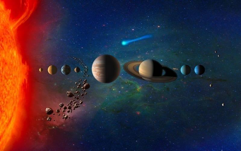 Concepto artístico del sistema solar. Image Credit: NASA