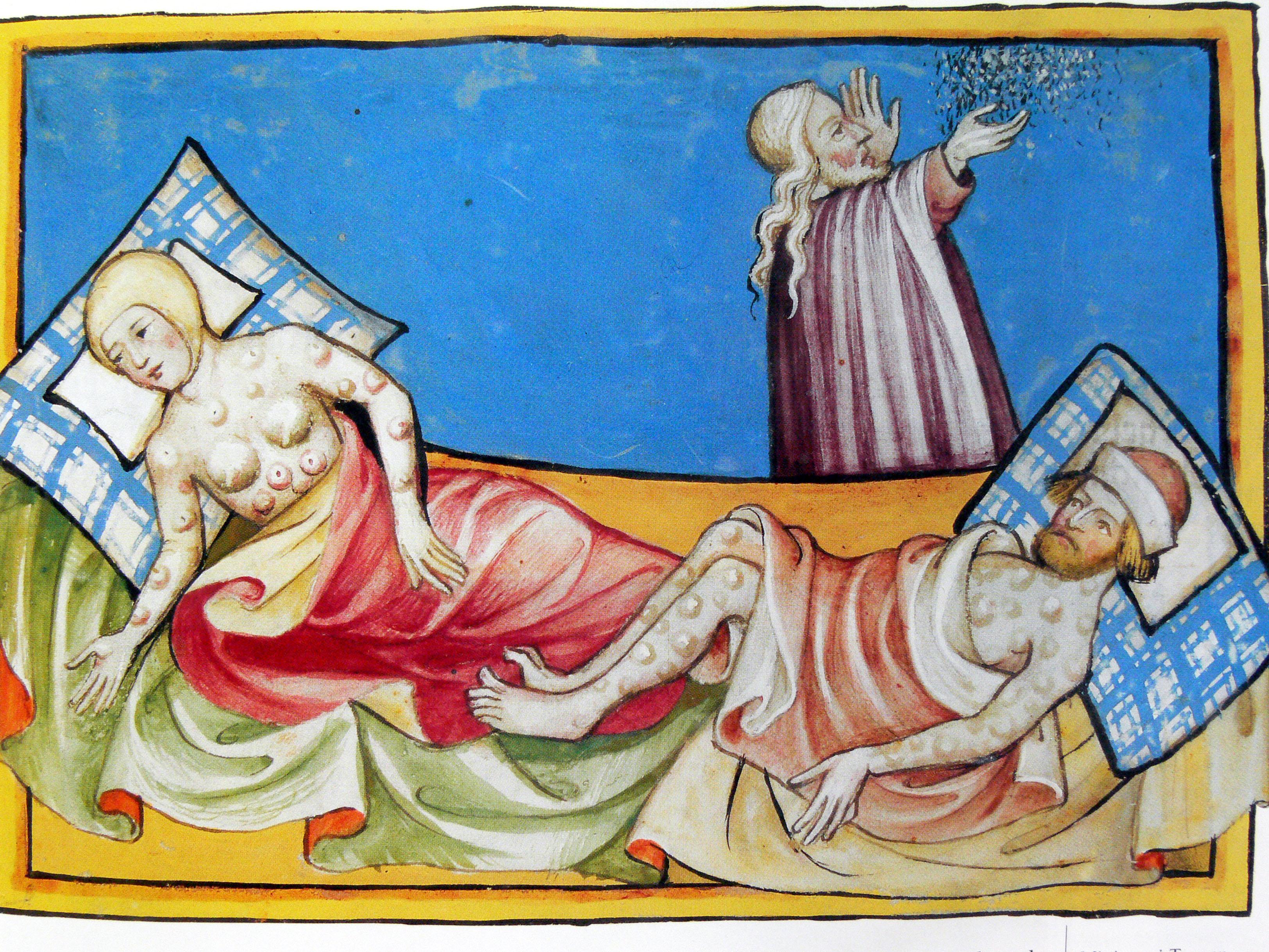 La Peste en la Biblia de Toggenburg (1411)