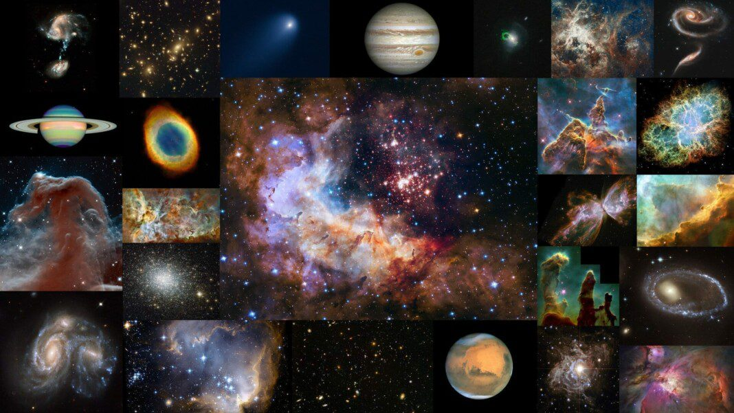 Hubble 25 without title pillars