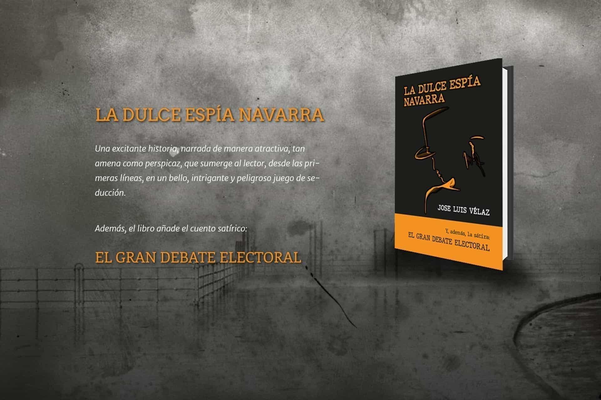 La Dulce Espía Navarra; nueva novela de José Luis VÉLAZ.