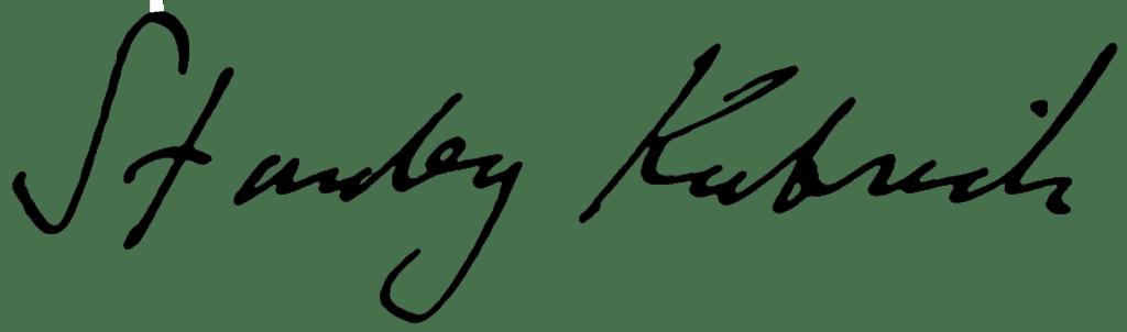 Stanley Kubrick. Autógrafo