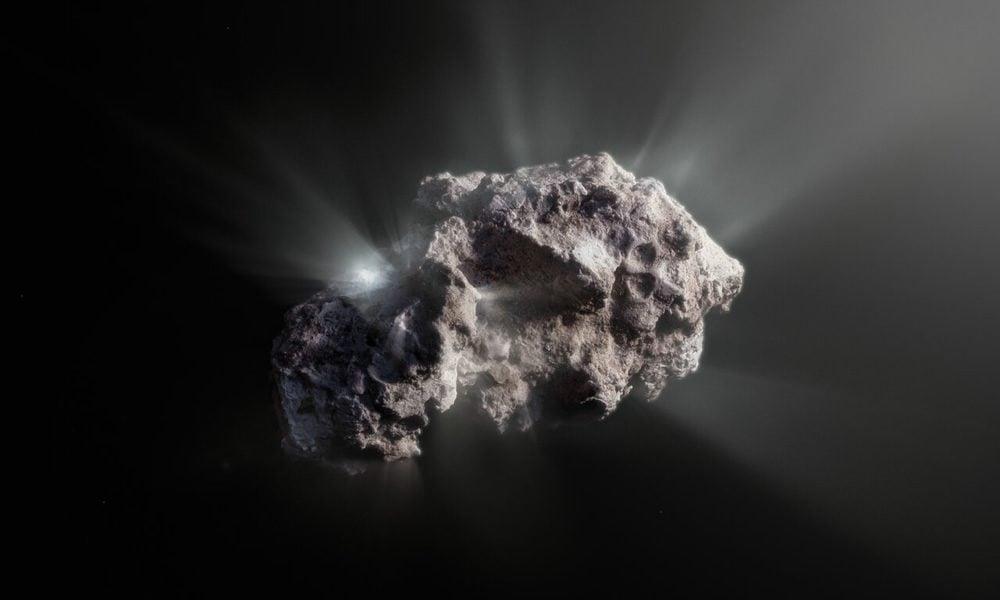 Representación artística de la superficie del cometa interestelar 2I/Borisov. Crédito: ESO/M. Kormesser