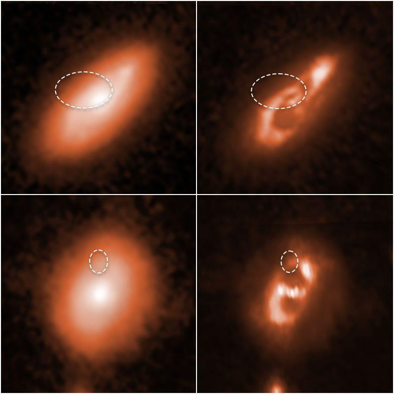 El Hubble capturó imágenes de las galaxias anfitrionas en las que se rastrearon las Ráfagas Rápidas de Radio (FRB). Credits: SCIENCE: NASA, ESA, Alexandra Mannings (UC Santa Cruz), Wen-fai Fong (Northwestern) IMAGE PROCESSING: Alyssa Pagan (STScI)