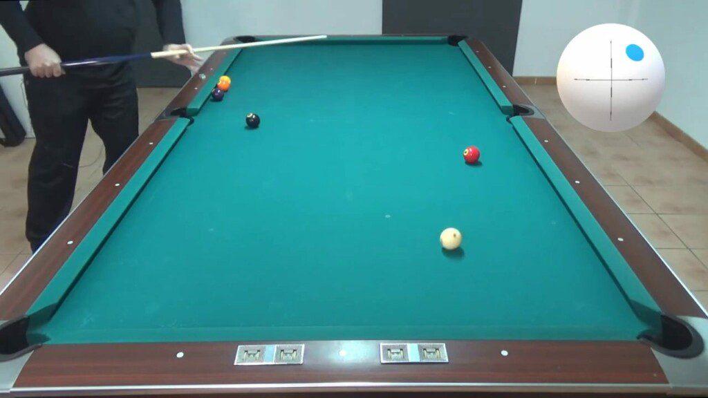 """Tiro de """"Corrido"""" (Follow Shot) en Billar Americano (Pool). @José Marí de Billiard Fanatic"""